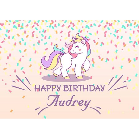 Pony Unicorn Personalized Cake Toppers Icing Sugar Paper A4 Sheet Edible Frosting Photo Birthday Topper 1 4