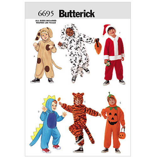 Butterick Pattern Children's Costume, All Sizes
