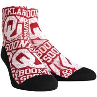 Oklahoma Sooners Rock Em Socks Logo Sketch Quarter-Length Socks