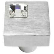 Atlas Homewares Boutique Crystal Collection Off Center Square Cabinet Knob