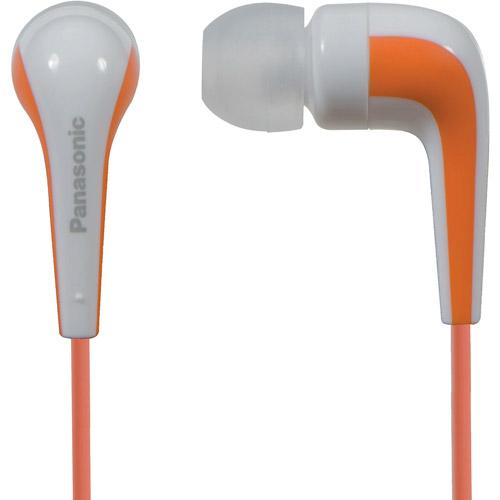 Panasonic L-Shaped In-Ear Earbud Headphones, Orange (RPHJE140D)