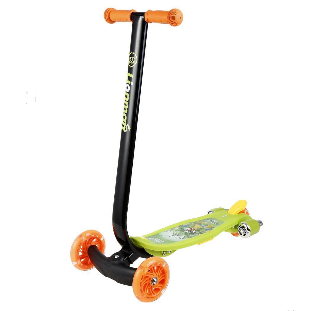 Kids Scooter 3-Wheels Kick w/Flash LED Light-up Wheel BETT