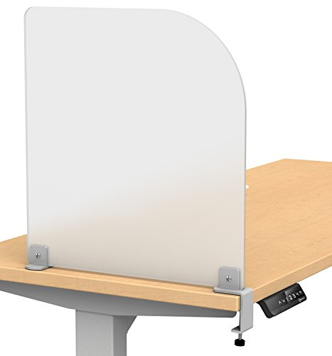 "Merge Works Studio Wing Desktop Privacy Panel Frosted Acrylic Clamp-on Desk Divider -17"" W x 18""H... by Merge Works"