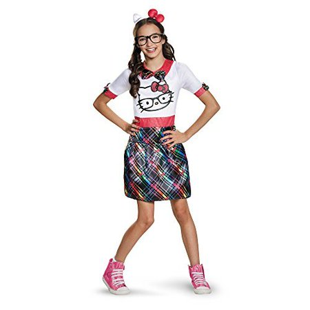 Disguise 88680J Hello Kitty Nerd Tween Costume, X-Large (14-16) (Nerd Costumes For Teenager)