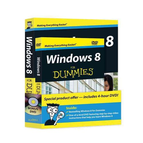 Windows 8 for Dummies + DVD
