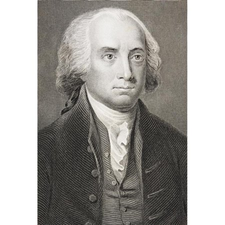 James Madison 1751 - 1836 Fourth President Of The United States 1809 - 1817 From The Book Gallery Of Historical Portraits Published C1880