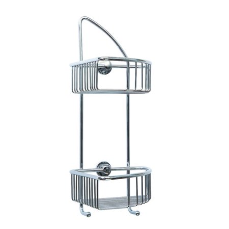 No Drilling Required Draad Double Corner Shower Caddy