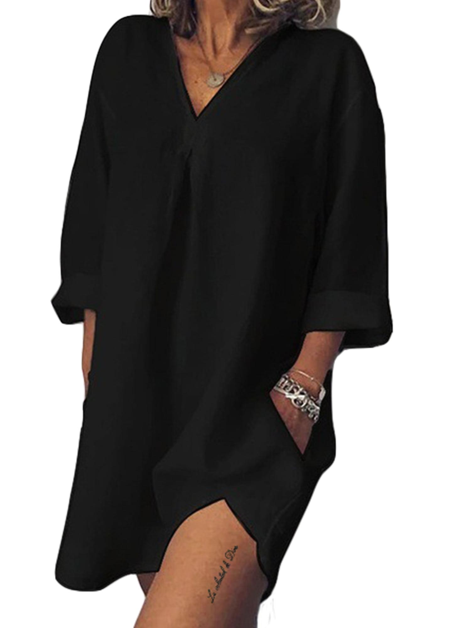 Plus Size Women Short Sleeve Cotton Linen Baggy Blouse Shirt Ladies Summer Tunic Top
