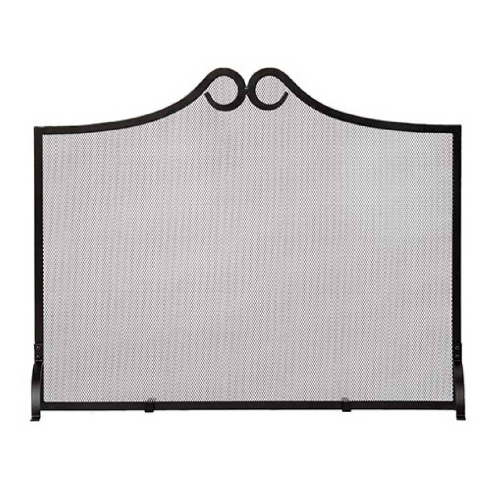 Image of Minuteman International Loops Flat Fireplace Screen - 38 x 31 in.