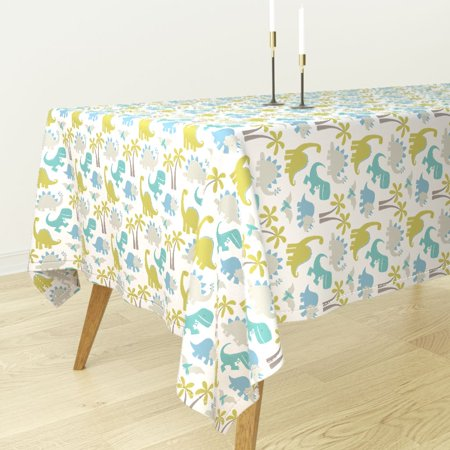 Tablecloth Dinosaur Prehistoric Kid Juvenile Jurassic Repeat Cotton (Juvenile Kids Table)