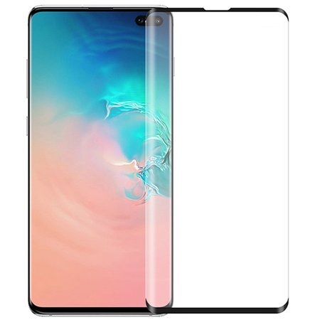 Galaxy S10 5G Tempered Glass, Full Size 3D Curved Hard Screen Guard Protector Crack Saver for Samsung Galaxy S10 5G Phone (SM-G977) - Ultrasonic Fingerprint