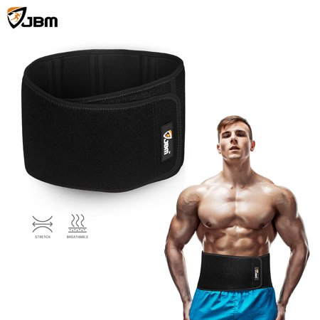 JBM Adjustable Waist Trimmer Belt Weight Loss Wrap Waist Cincher for Men & Women Help with Sculpt Abdominal Muscle & Waist Exercise