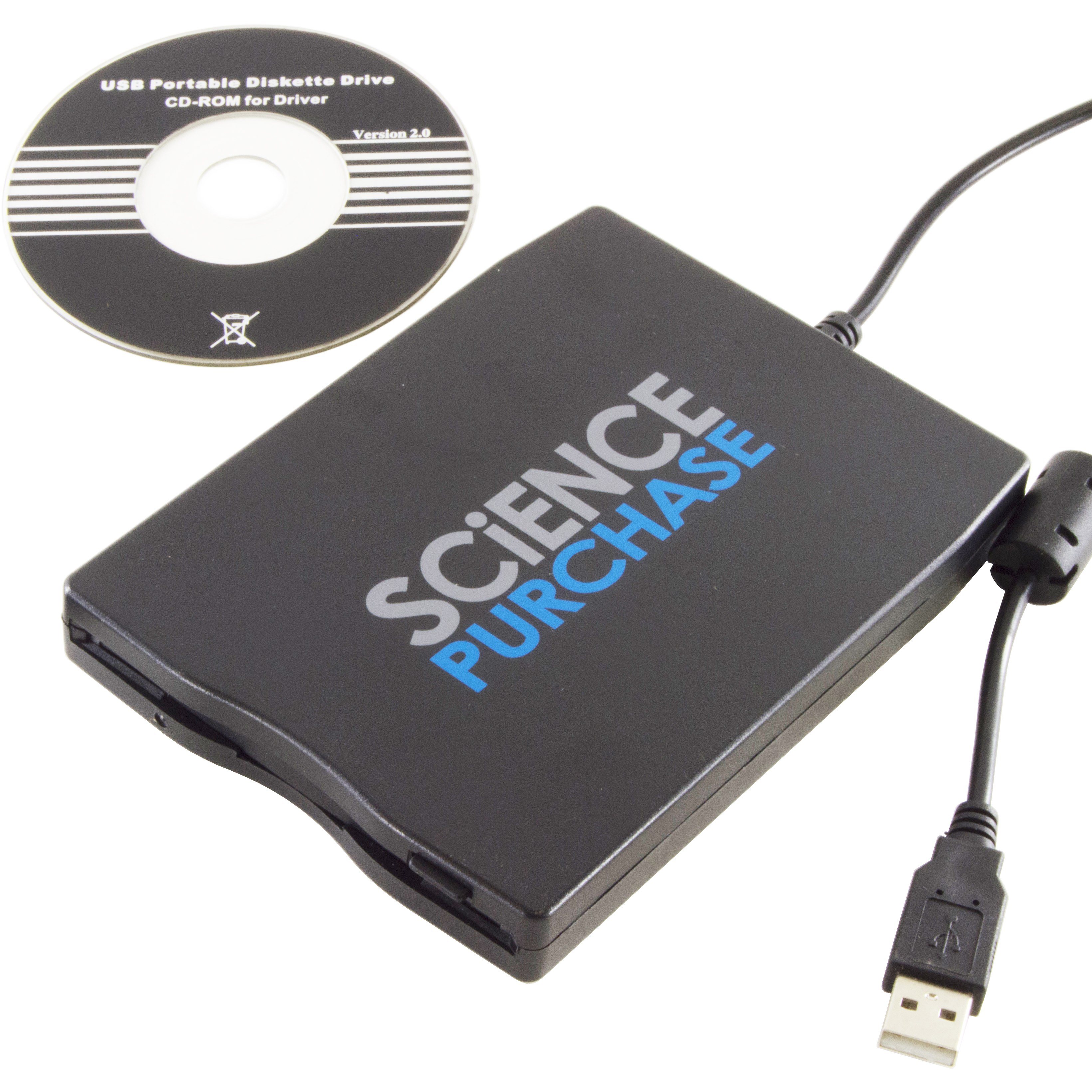 "Science Purchase External USB 3.5"" Floppy Disk Drive"