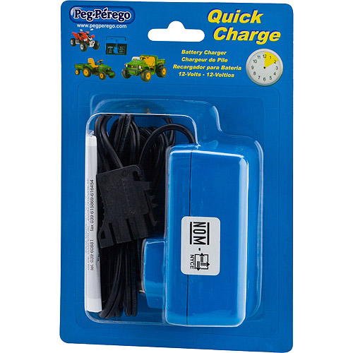 Peg Perego 12-Volt Quick Charger for Peg Perego, John Deere, Polaris and Ducati Ride Ons