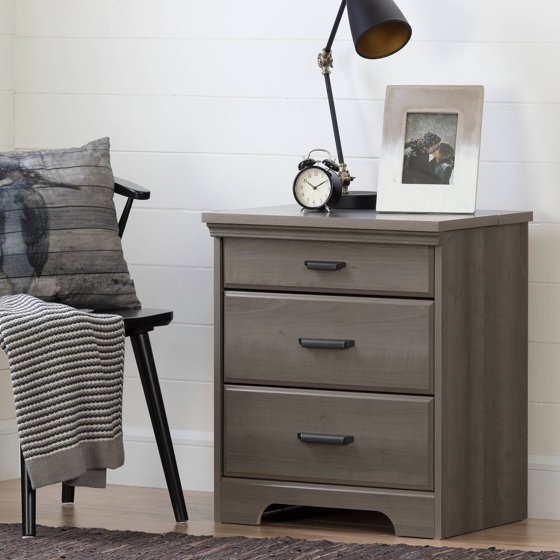 South shore versa nightstand with charging station and for Multi night stand