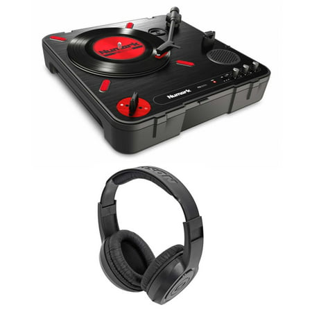 Scratch Dj Turntable (Numark PT01 Scratch DJ Turntable w/ USB/AUX/RCA+Speaker+Samson Headphones )