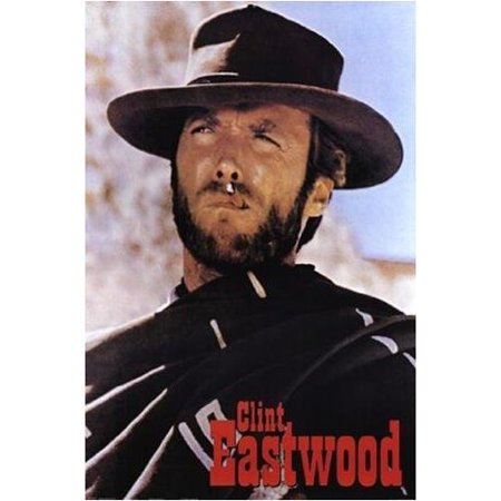 Name Art Print - Clint Eastwood The Man With No Name Movie 36x24 Art Print   Classic Western