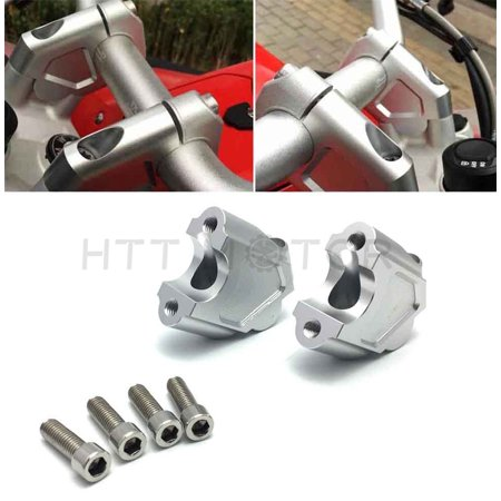 Bmw F650gs Tank Bag - HTTMT- Motorcycle Handlebar Riser Kit Moves Bar Up For BMW F650GS F700GS 08-17 Silver