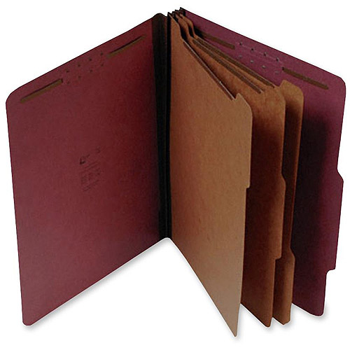 SJ Paper Recycled 3-Divider Classification Folders