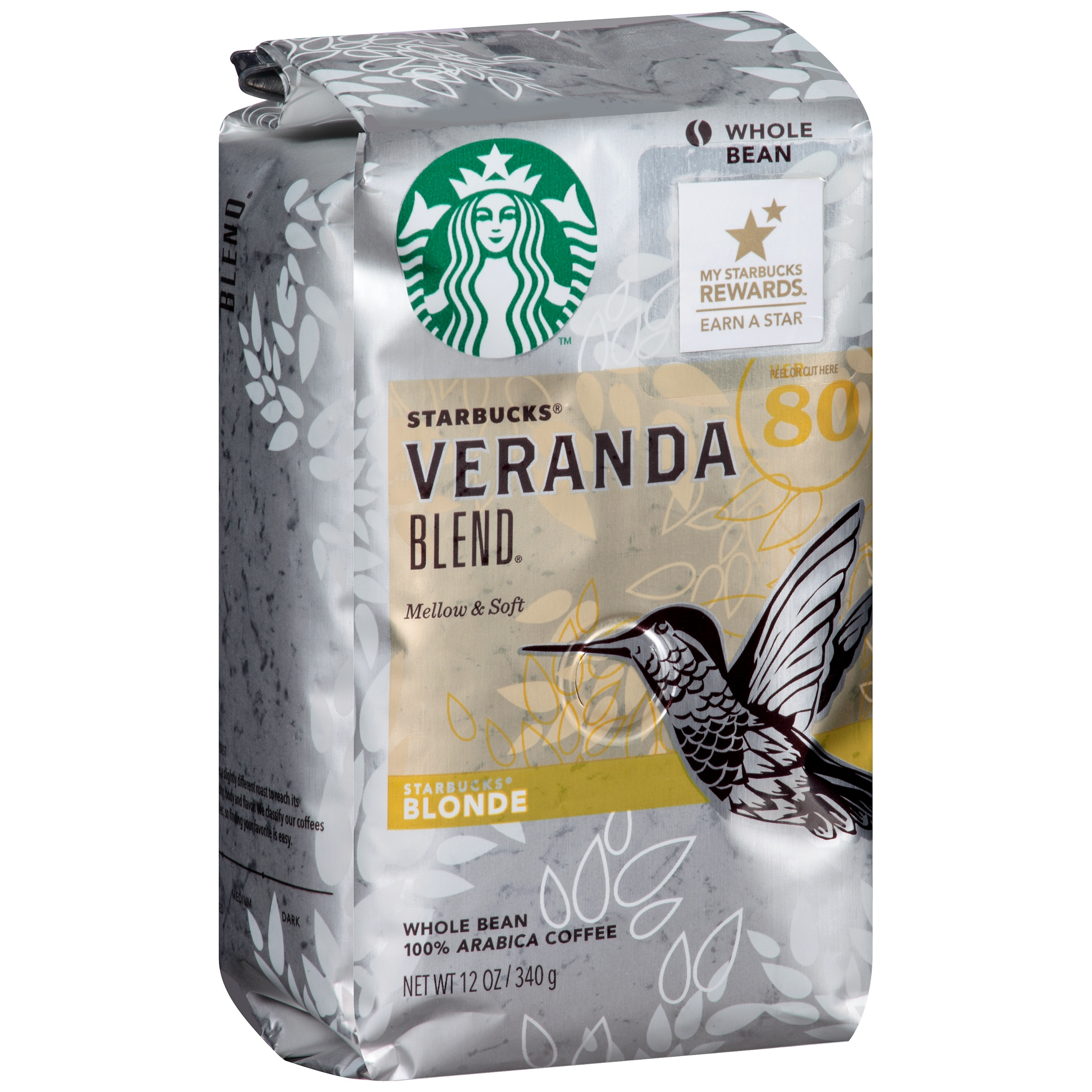 Starbucks® Blonde Veranda Blend® Whole Bean Coffee 12 oz. Bag