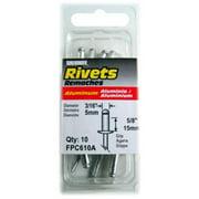 FPC610A Aluminum Rivet, X-Long, 3/16-In. Dia., 10-Pk. - Quantity 5