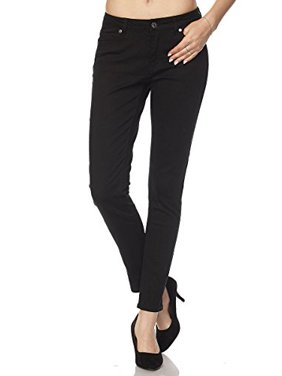 52cbf52b5f4a8 Product Image StylesILove Women Stretch Cotton Twill 5 Pocket Cotton Skinny  Pants (1, Black)