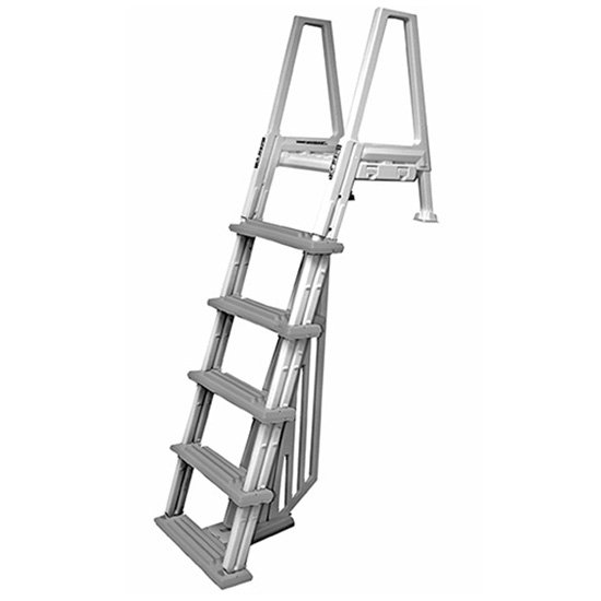 Confer Heavy-Duty Above-Ground Swimming Pool Ladder 46-56 Inches, Gray | 6000B