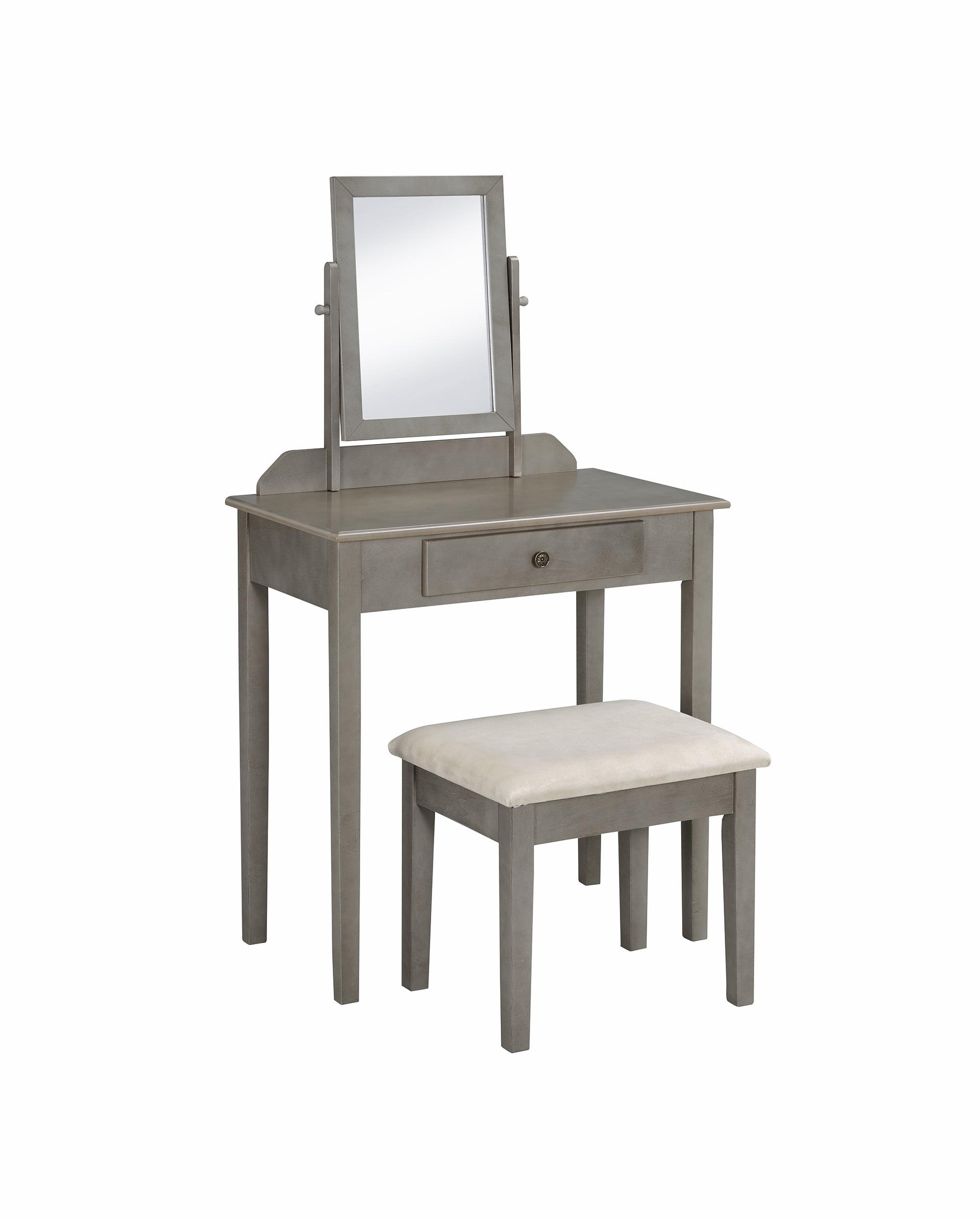 Crown Mark Iris Vanity Table//Stool Set MultiColor