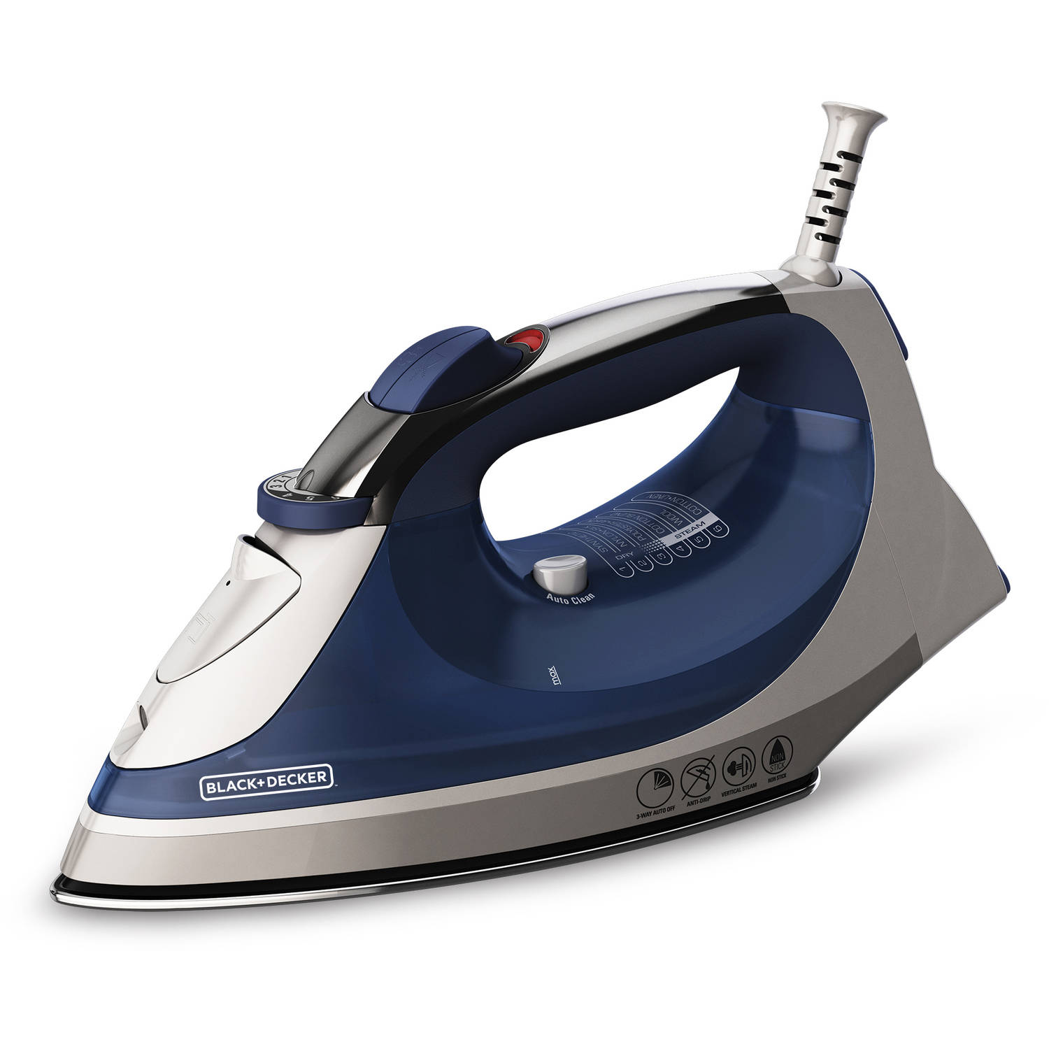 BLACK+DECKER Corded Xpress Steam Iron, Blue, IR08X-2 by Generic