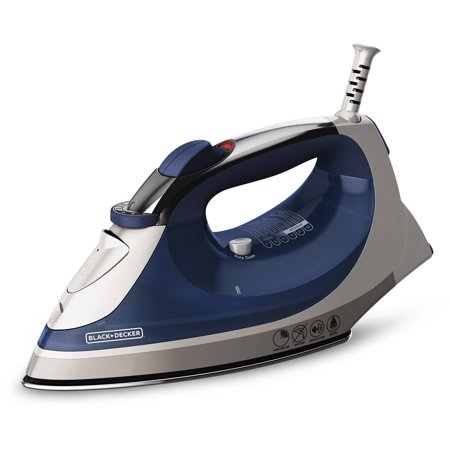 Black Decker Corded Xpress Steam Iron  Blue  Ir08x 2