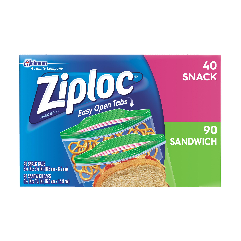 Ziploc Sandwich & Snack Lunch Pack 130 count