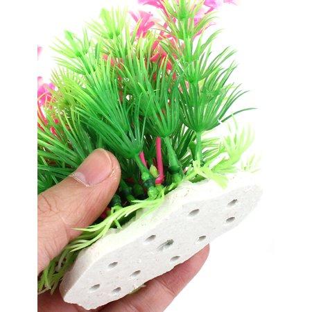 Unique Bargains Aquarium Water Plastic Artificial Grass Plant Decor Green Pink 5  Height 2 Pcs - image 2 of 3