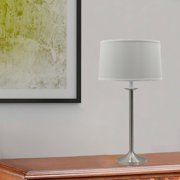 Fangio Lighting W-1062 28 in. Traditional Candlestick Styled Table Lamp - Brushed Steel