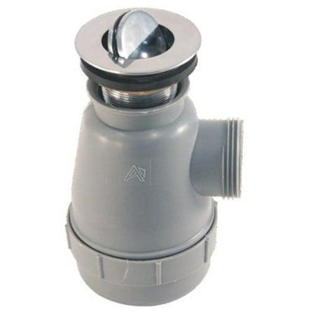 Ambassador Marine No Overflow Trap Sink Drain with 1 1/2-Inch Flip Stopper, Brushed Nickel Finish, 1 1/4-Inch Thread ()