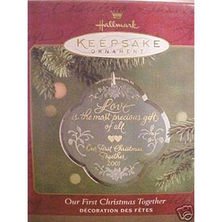 Hallmark - Our First Christmas Together Acrylic Ornament - Dated -