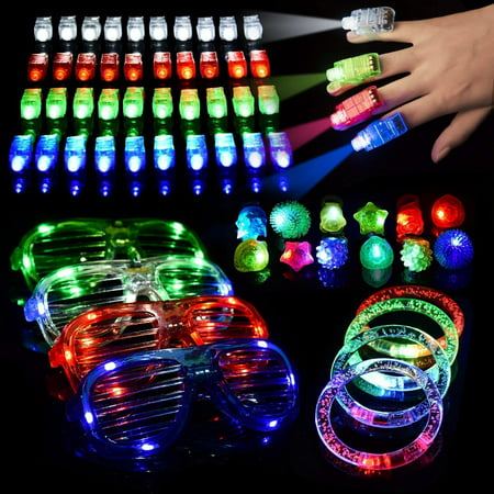 LED Light Up Toys Flashing Party Favors, 116 piece set