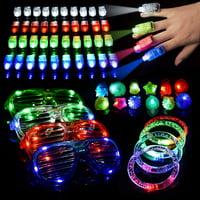 LED Light Up Toys Flashing Party Favors, 116 piece set, Stocking Stuffers