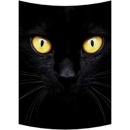 GCKG Black Cat in The Dark Tapestry Wall Hanging,Wall Art, Dorm Decor,Wall Tapestries Size 51x60 inches - image 2 of 2