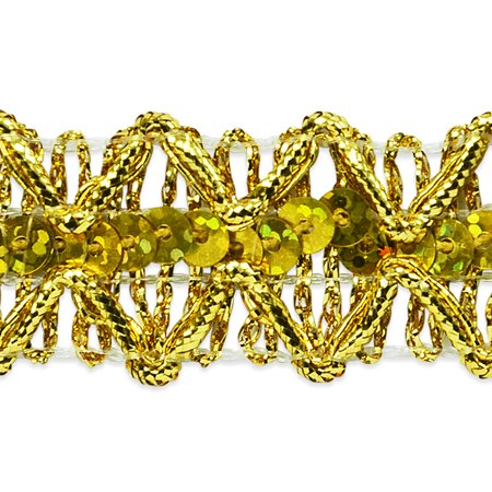Expo 5 yards of Sheba Diamond Sequin Braid Trim ()