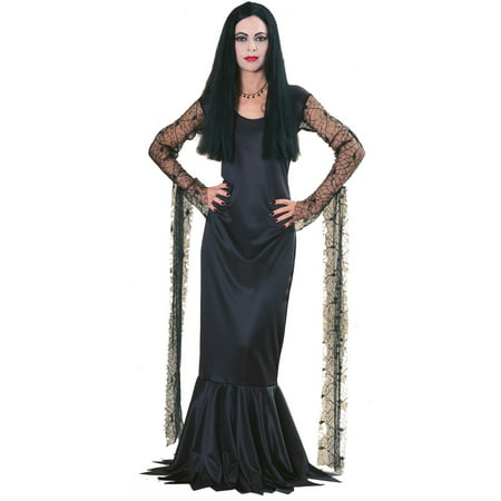 Addams Family Morticia Adult Costume - Morticia E Gomez Halloween