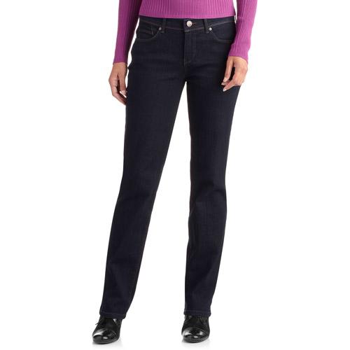 GLO by Gloria Vanderbilt Women's Petite Tara Curvy Fit Straight-Leg Jeans