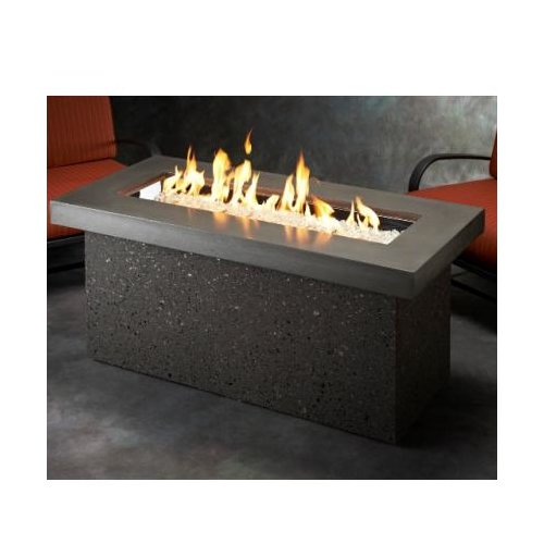 The Outdoor GreatRoom Company Key Largo Crystal Firepit Table with Base by The Outdoor GreatRoom Company