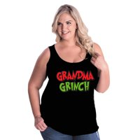 Grandma The Grinch Christmas Plus Size Womens Tank Top
