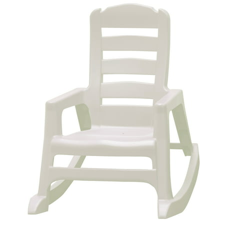 Magnificent Adams Manufacturing Lil Easy Kids Rocking Chair White Gmtry Best Dining Table And Chair Ideas Images Gmtryco