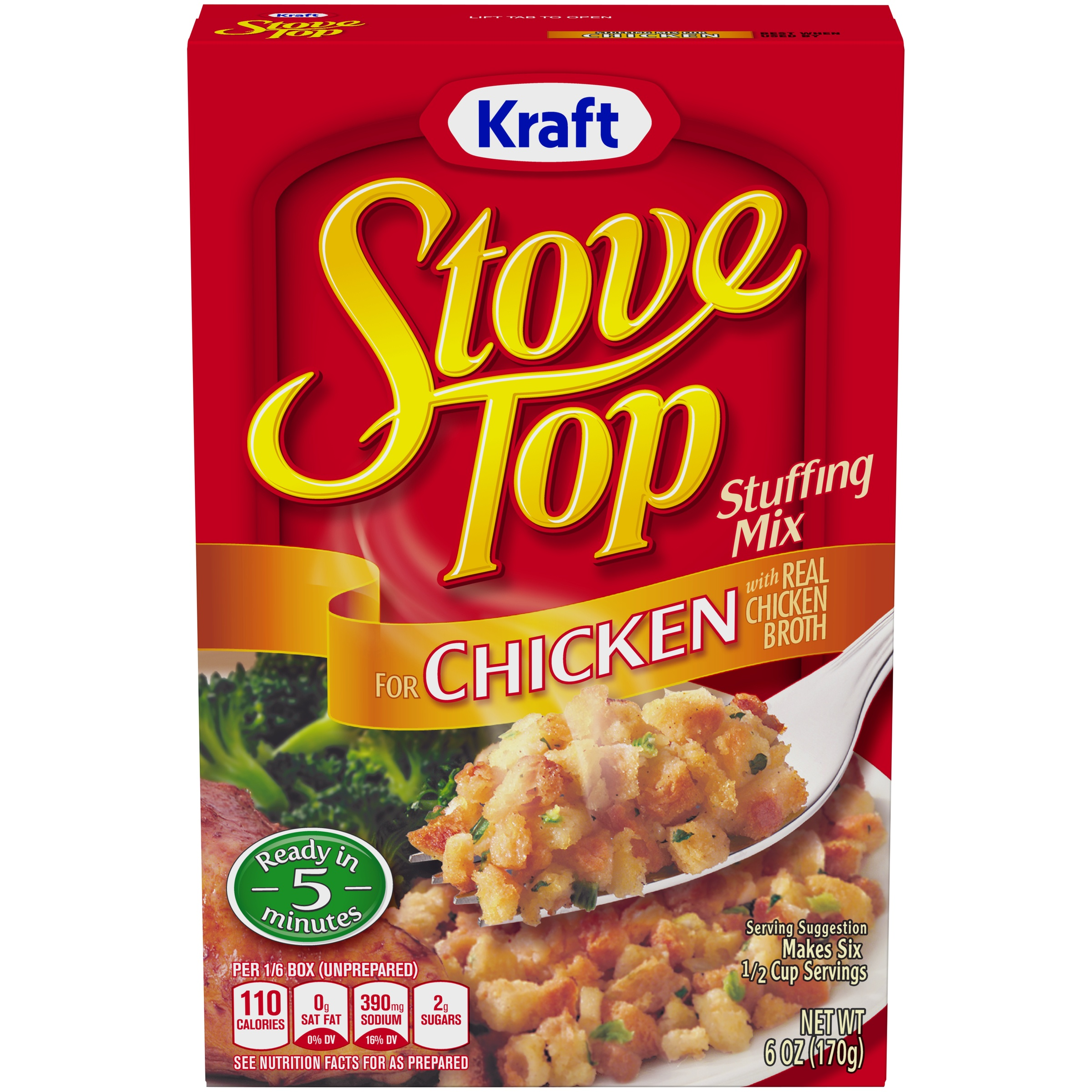 Kraft Stove Top Stuffing Mix for Chicken 6 oz. Box