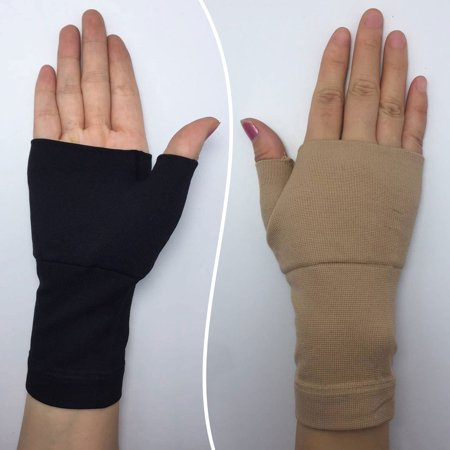 1 Pair Carpal Tunnel Hand Palm Thumb Wrist Brace Support Arthritis Compression Bandage Gloves Elastic Brace Sleeve Sports Bandage Wrap Pain Relief Promote Circulation Therapy Gloves Flesh S