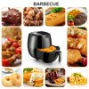 6.2-Quart Electric Air Fryer Oil Free with Digital LED Touch Display Slide out Non-stick Pan Detachable Basket