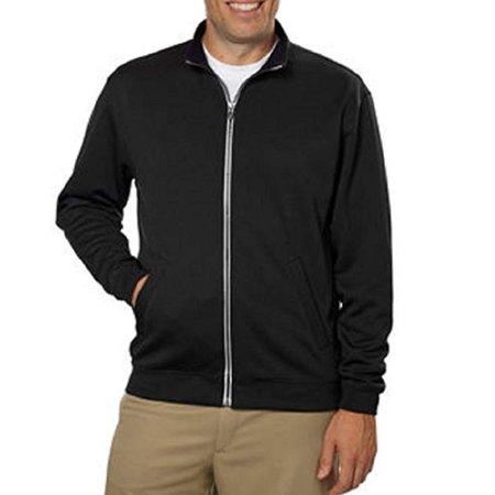 High Performance Mens Jacket - Pebble Beach Mens Performance Golf Full Zip Jacket - Black(medium)