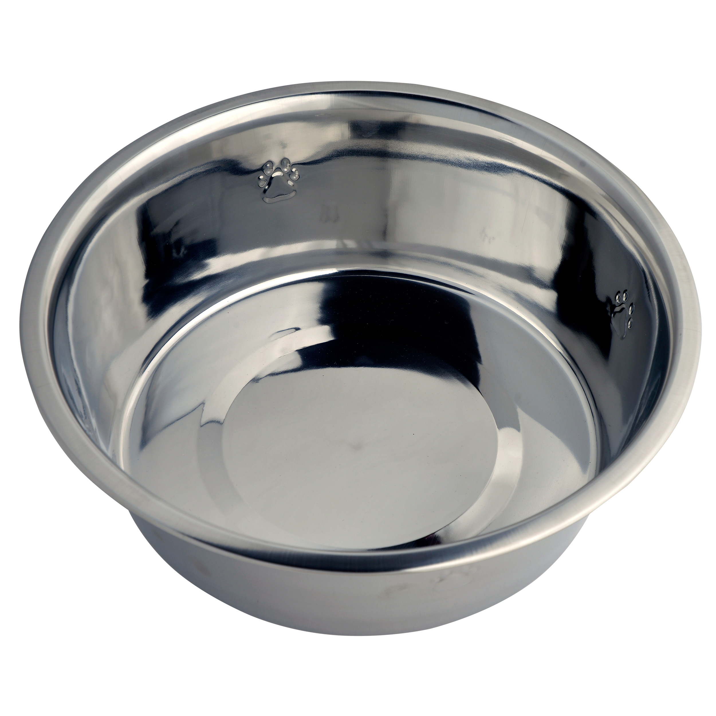Vibrant Life Stainless Steel Dog Bowl with Paws, Medium