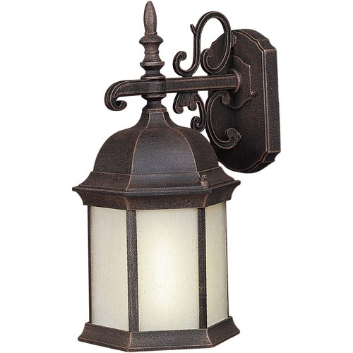 1-Light Painted Rust Outdoor Wall Sconce